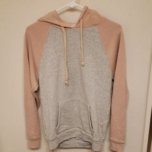 American eagle pink and grey hoodie